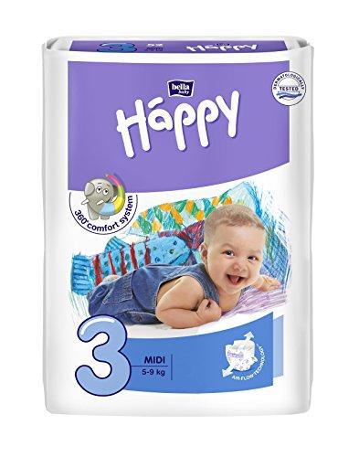 Bella Baby Happy Windeln Größe 3 midi 4-9 kg Big Pack, 1er Pack (1 x 78 Stück)