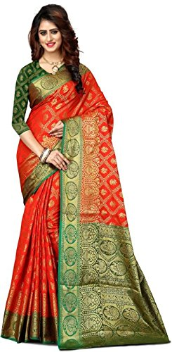 Vatsla Enterprise Self Design Paithani Banarasi Silk (VSWNRNRCHPLPINK011) VSWNRNRCHORANGE012