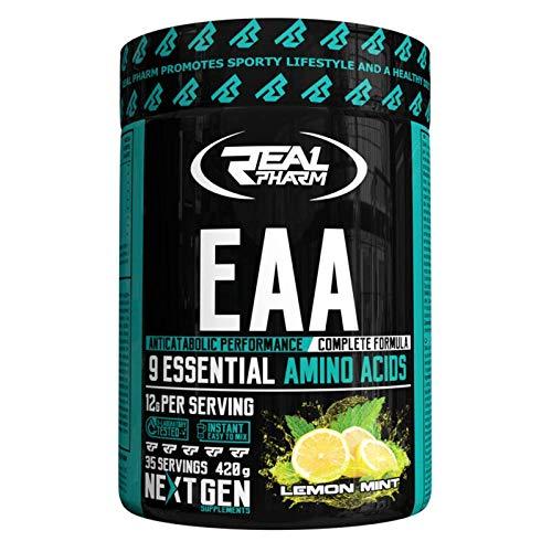 Real Pharm EAA 420g   35 Servings   Anticatabolic Performance   Complete  Formula, 9 Essential