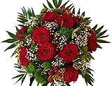 PERFEKT FÜR DIE LIEBE   frischer Blumenstrauß in 1A Qualität   EIN WUNDERSCHÖNER Blumenstrauß mit ROTEN ROSEN   mit Express Lieferung  ,Du an meiner Seite,