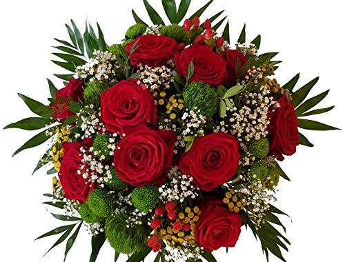 PERFEKT FÜR DIE LIEBE | frischer Blumenstrauß in 1A Qualität | EIN WUNDERSCHÖNER Blumenstrauß mit ROTEN ROSEN | mit Express Lieferung |,Du an meiner Seite,