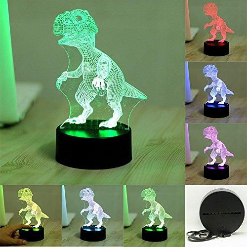Colorful 3D visiva Led Night Lights per i bambini Tabella di tocco USB Lampara Lampe (Compleanno Speciale Piastra)