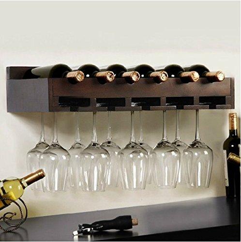 Montato a parete in legno vetro vino rack creativa moda cantinette portabottiglie di vino vino vetro separatori rack,vino rosso