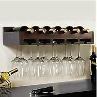 Montato a parete in legno vetro vino rack creativa moda cantinette portabottiglie di vino vino vetro separatori rack,Bianco