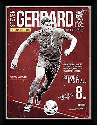 GB eye 16 x 12-inch Liverpool Gerrard Retro Framed Photograph