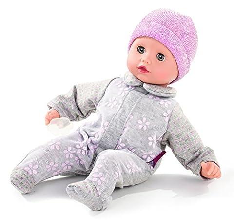 Götz 1620517 Muffin Netlace & Flowers - 33 cm große Weichkörperpuppe mit blauen Schlafaugen und ohne Haare - Babypuppe mit Strampler und Schnuller - geeignet für Kinder ab 18 Monaten