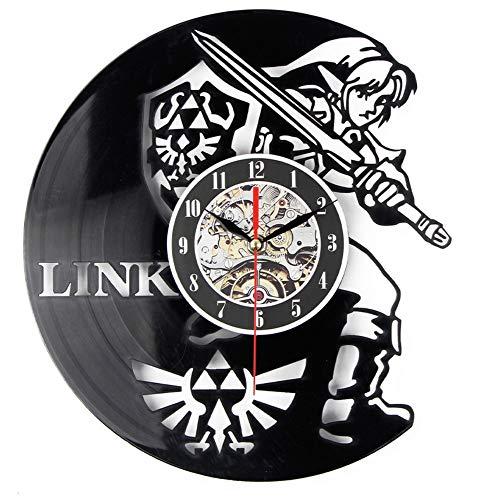 Syhua Nouveau Art CD Disque Vinyle Horloge Murale Moment Légende De Zelda Montre À La Main Montre Noir Horloge Murale Horloge Décoration Murale Home Design