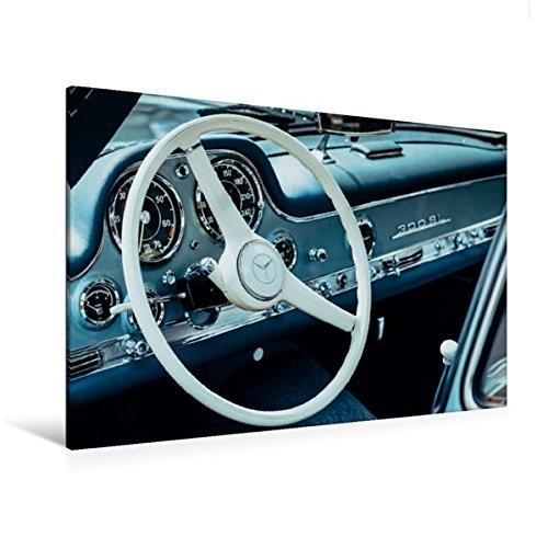 Calvendo Premium Textil-Leinwand 120 cm x 80 cm quer, Mercedes Benz 300 SL Flügeltürer, 1955, 2996 CCM, 215 PS, 250 km/h   Wandbild, Bild auf Keilrahmen. Emotion, Nostalgie Mobilitaet Mobilitaet
