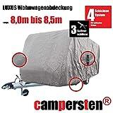 campersten Wohnwagen-Abdeckung | Schutzhülle | Wohnwagen-Abdeckplane | 4-Schichten-Gewebe (5XL: 8,0m bis 8,5m)