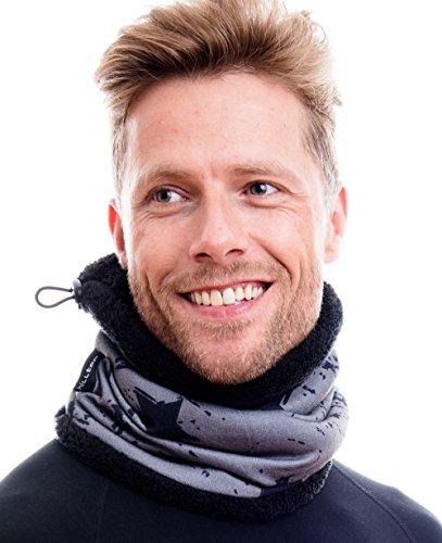 Hilltop Polar Schal doppellagig mit Teddy Fleece & Kordelzug / Hilltop Wendemütze oder Hilltop Sparset Schal & Wendebeanie, Farbe/Design:358-3T (T-line Design)