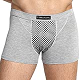 Herren Turmalin Health Guard Unterhose Modal Solid Color Briefs Starke Magnetische Hose Boxer Shorts Vikeucool