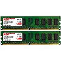 Komputerbay 2GB 2X 1GB DDR2 667MHz PC2-5300 PC2-5400 DDR2 667 (240 PIN) DIMM Memoria Desktop CL 5