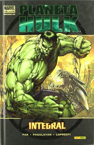 """Greg Pak, Carlo Pagulayan, Aaron Lopresti, Gary Frank. . ¡La más espectacular aventura jamás protagonizada por el Goliat Verde, recopilada en un único y aplastante volumen! ¡Llega """"Planeta Hulk""""! Un planeta alienígena salvaje. Tribus bárbaras oprimi..."""