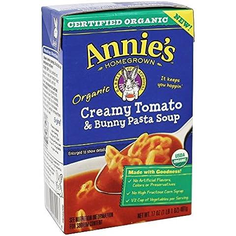 Annie's - bio di pomodoro cremosa & Bunny Pasta zuppa - 17 oz.