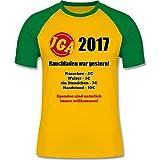 JGA Junggesellenabschied - Bauchladen war gestern! 2017 - L - Gelb/Grün - L140 - zweifarbiges Baseballshirt für Männer