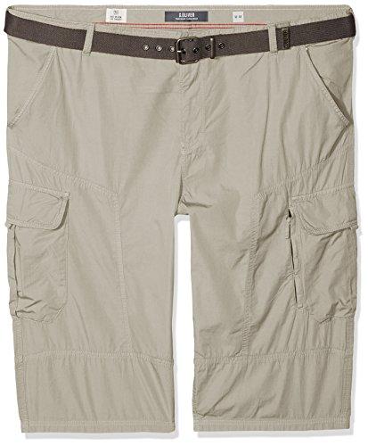 s.Oliver Big Size Herren Shorts 15.806.74.5060, Grau (Sun Bleached Grey 9114), Keine Angabe(Herstellergröße: 42) -