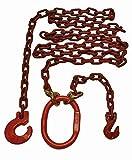 Eslinga de cadena con dos ramales (2,5 m, redonda, 8 mm con acortamiento y arandela, grado 80)