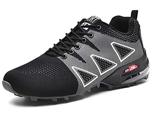 GNEDIAE Herren KR-5 Low-top Trailrunning-Schuhe,Laufschuhe Schwarz 42 EU