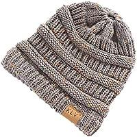 Elecenty Cappello e cappellini da donna Cappellino Slouchy a forma di  berretto da sci lavorato a abd886606507