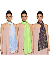 Krave Women's Synthetic Scarf (Pack of 3)
