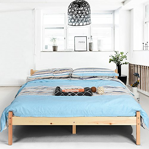 Lillyarn Double Bed Frame 4ft 6 Wooden Bed Base Pine