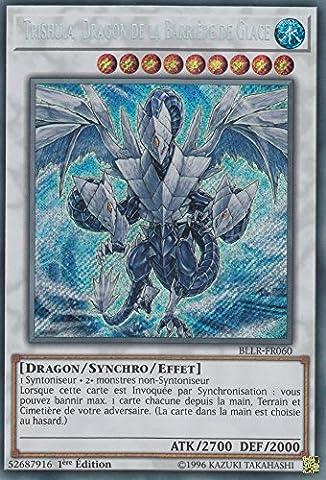 "Carte Yu-Gi-Oh! ""Trishula, Dragon de la Barrière de Glace"" BLLR-FR060 - VF/SECRET RARE"