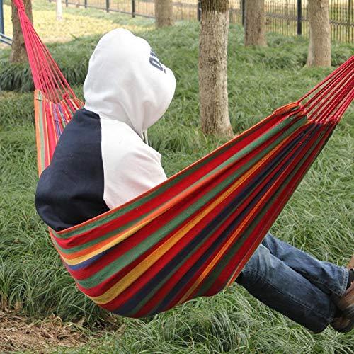 Neue Ankunft Riesige Einzelne Baumwollgewebe Hängematte Tragbare Camping Air Stuhl Outdoor Sport Reise Garten Schaukel Hängesessel