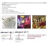 KNONEW Catena Luminosa, Striscia LED, Molletta, Clip Foto, 20 Foto Clips 5M Batteria Alimentato LED Immagine Illuminazione per Attaccatura e Decorazione Tabella Foto, Opera D'arte,Nota (bianco-caldo)