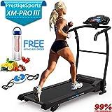 PrestigeSports XM-PROIII Treadmill 2018 Model Motorised Running Machine, Folding, 12KPH Speed, 3 Level