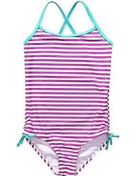 Attraco Mädchen Neckholder Badeanzug Mehrfarbig Einteiler