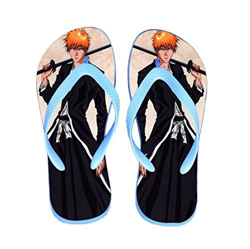 Bromeo Bleach Anime Unisex Flip Flops Zehentrenner Flip Pantoffeln 255
