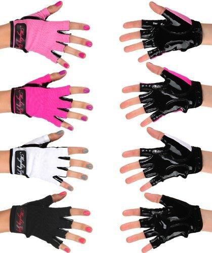 Mighty Grip Pole Dancing Handschuhe mit Klebebandhalterung für 1 Paar, weiß, M