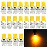 EverBright 20-Pack ámbar T10 / 194 / 168 / 921 W5W 5730 2 SMD LED bombilla para la cuña de separación / placa de la licencia / puerta de la lámpara del instrumento / ancho lectura Luz Interior coche sustitución luces Lámpara 12V