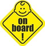 Aufkleber Baby on Board / an Bord / KFZ Außenanwendung 10 cm
