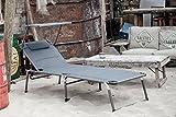 Ambientehome Luxus Aluliege Dreibeinliege mit Dach gepolstert mit Quick Dry Foam - 9
