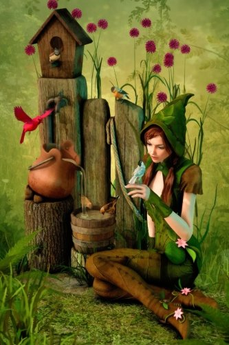 Well-Spring woodland Elf Grid Notebook: 150 page Grid Notebook Journal Diary: Volume 14 (Fairyland 150 Grid Notebooks)