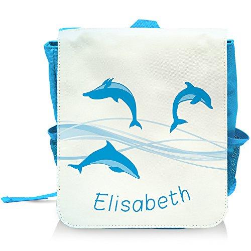 Elisabeth Fisch (Kinder-Rucksack mit Namen Elisabeth und schönem Delfin-Motiv für Mädchen)