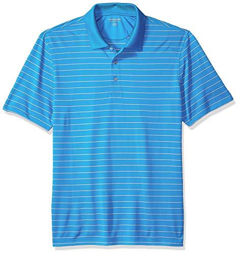 Amazon Essentials Regular-Fit Quick-Dry Stripe Golf Polo Shirt Poloshirt Herren, Electric Blue, US L (EU L)