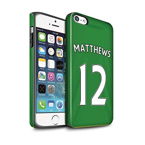 Offiziell Sunderland AFC Hülle / Matte Harten Stoßfest Case für Apple iPhone 5/5S / Defoe Muster / SAFC Trikot Away 15/16 Kollektion Matthews