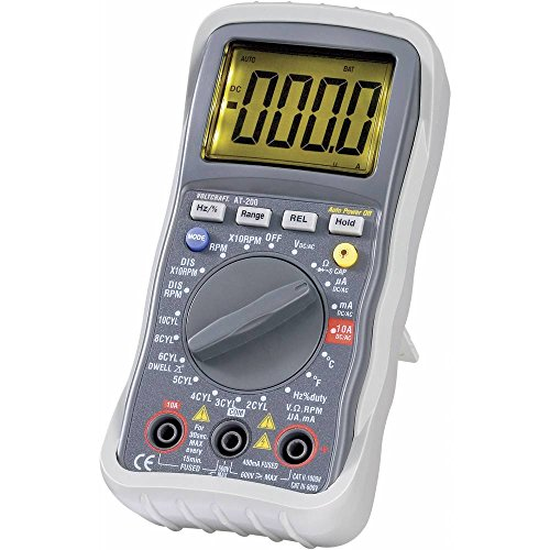 VOLTCRAFT AT-200 Hand-Multimeter digital KFZ-Messfunktion CAT III 600 V Anzeige (Counts): 4000 -