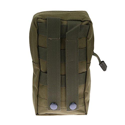 Broadroot Outdoor nylon Medical bag impermeabile marsupio custodia Sling Connected to Vest Belt Fit per escursionismo campeggio di, Green Green