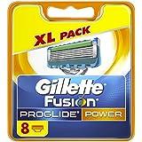 Gillette Fusion ProGlide Power - Cuchillas de recambio para maquinilla de afeitar (8 unidades)