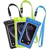 Mpow [3 Pezzi] Custodia Impermeabile IPX8 Custodia Impermeabile, Borsa Impermeabile,Sacchetto Impermeabile Cellulare Dry Bag, Sacchetto di Smartphone Universale per iPhone/Android