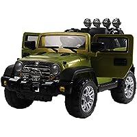 homcom Macchinina Elettrica per Bambini Modello Jeep 118 × 74 × 75cm,Verde