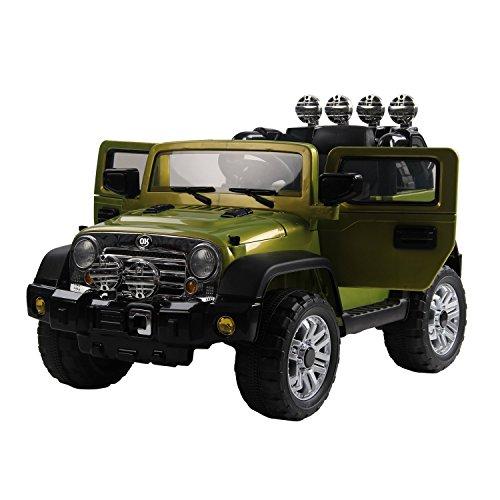 homcom Macchinina Elettrica per Bambini Modello Jeep 118 × 74 × 75cm,V