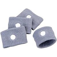 zhjz manteles individuales de 4piezas anti enfermedad pulseras contra el mareo de viaje (gris)