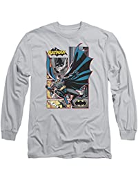 Justice League - Mens Batman Panels Long Sleeve T-Shirt