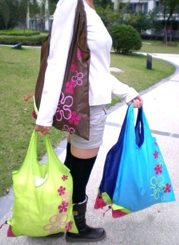 Liroyal-Strawberry-Folding-Fold-up-Reusable-Compact-Eco-periodic-duty-Recycling-use-Shopping-Bag