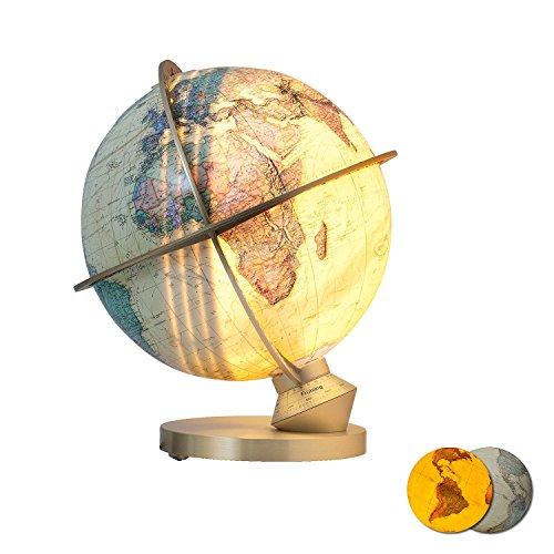 Columbus Verlag 22347234cm königlich leuchtender Globus mit Tag/Nacht Display