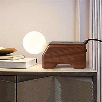 h m moderne lampe de bureau lampe de chevet veilleuse en bois massif lampe de table avec prise. Black Bedroom Furniture Sets. Home Design Ideas